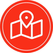 icon for local seo services and google maps in red